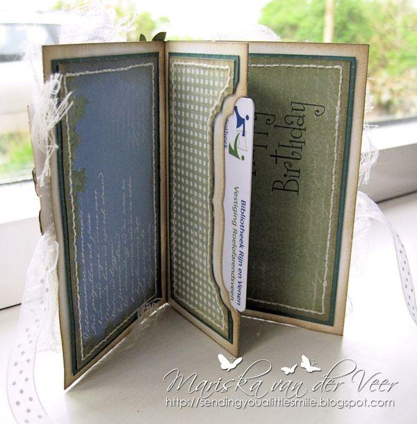 Tilly gift card holder inside