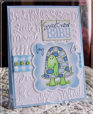 Turtle baby card diane zechman