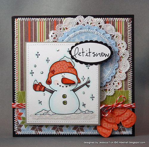 JessFick snowman mittens card (2)