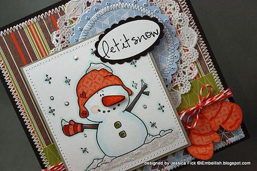 JessFick snowman mittens card