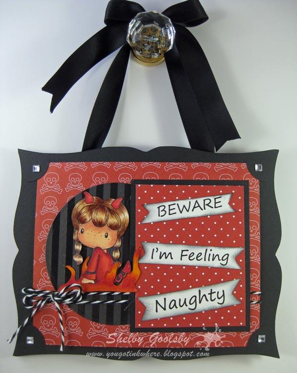 Naughty Door Hanger- Shelby