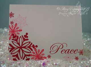 AmyR Stamps Snowflake Card Trio Card 1 by AmyR