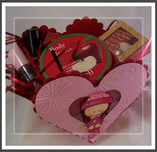 Heart box of goodies