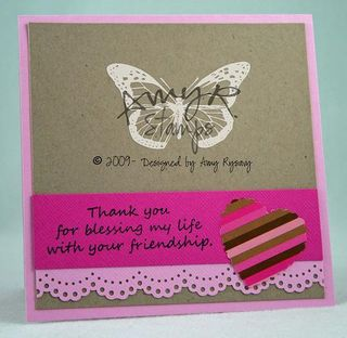 AmyR Stamps Friend Bear Heart Card Inside by AmyR
