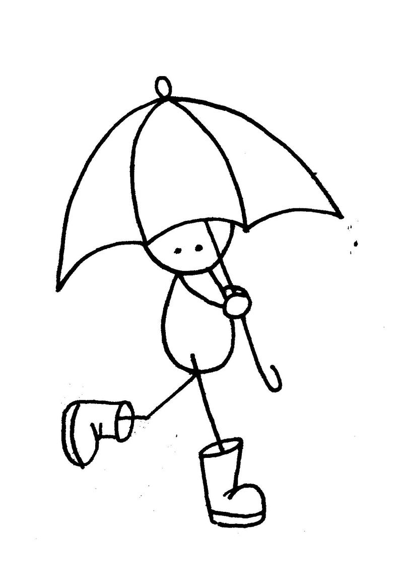 umbrella printable coloring pages title=